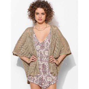 UO Staring at Stars Crochet Open-Front Cardigan
